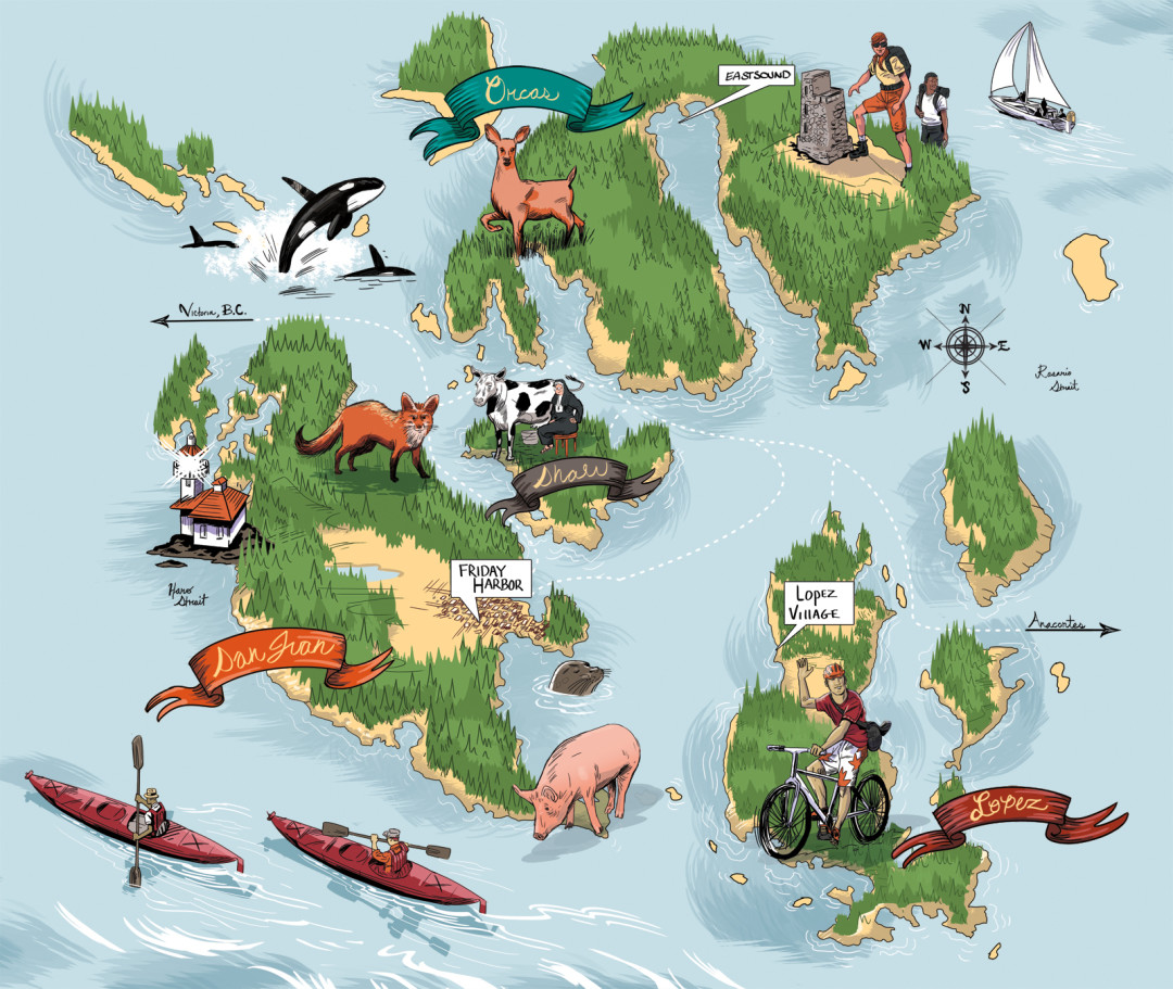 san juan islands seattle map Introduction To The Islands And A Map Seattle Met