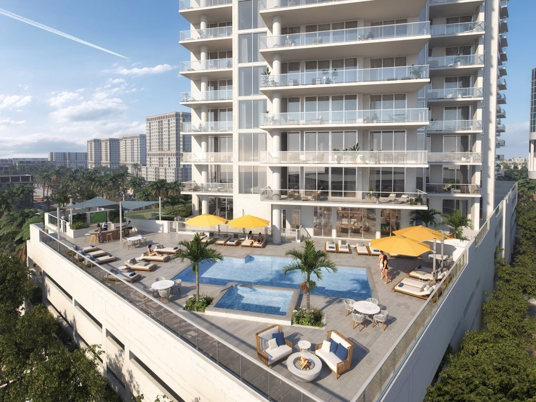 A rendering of the terrace at Bayso Sarasota.