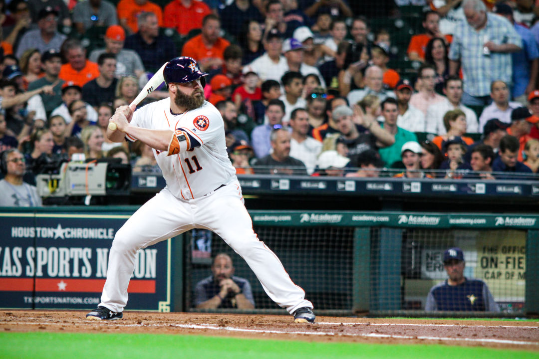 Jose Altuve (forearm) returns to the Astros' lineup