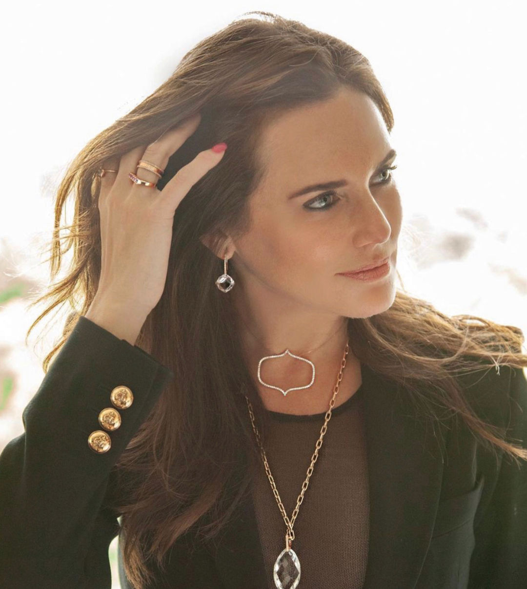 Meredith Marks in her line of jewelry