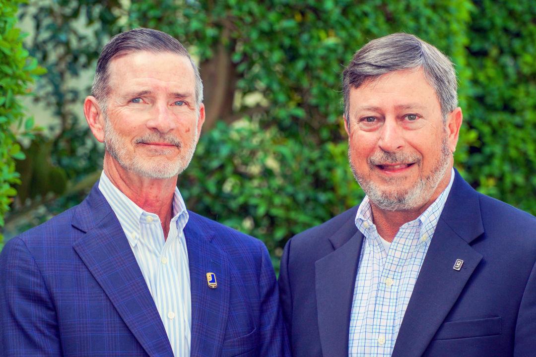 Goodwill Manasota president and CEO Bob Rosinsky (left) and board chair Steve Boone
