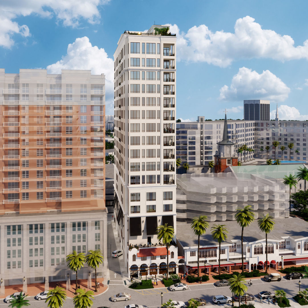 A rendering of downtown Sarasota's DeMarcay condo project.