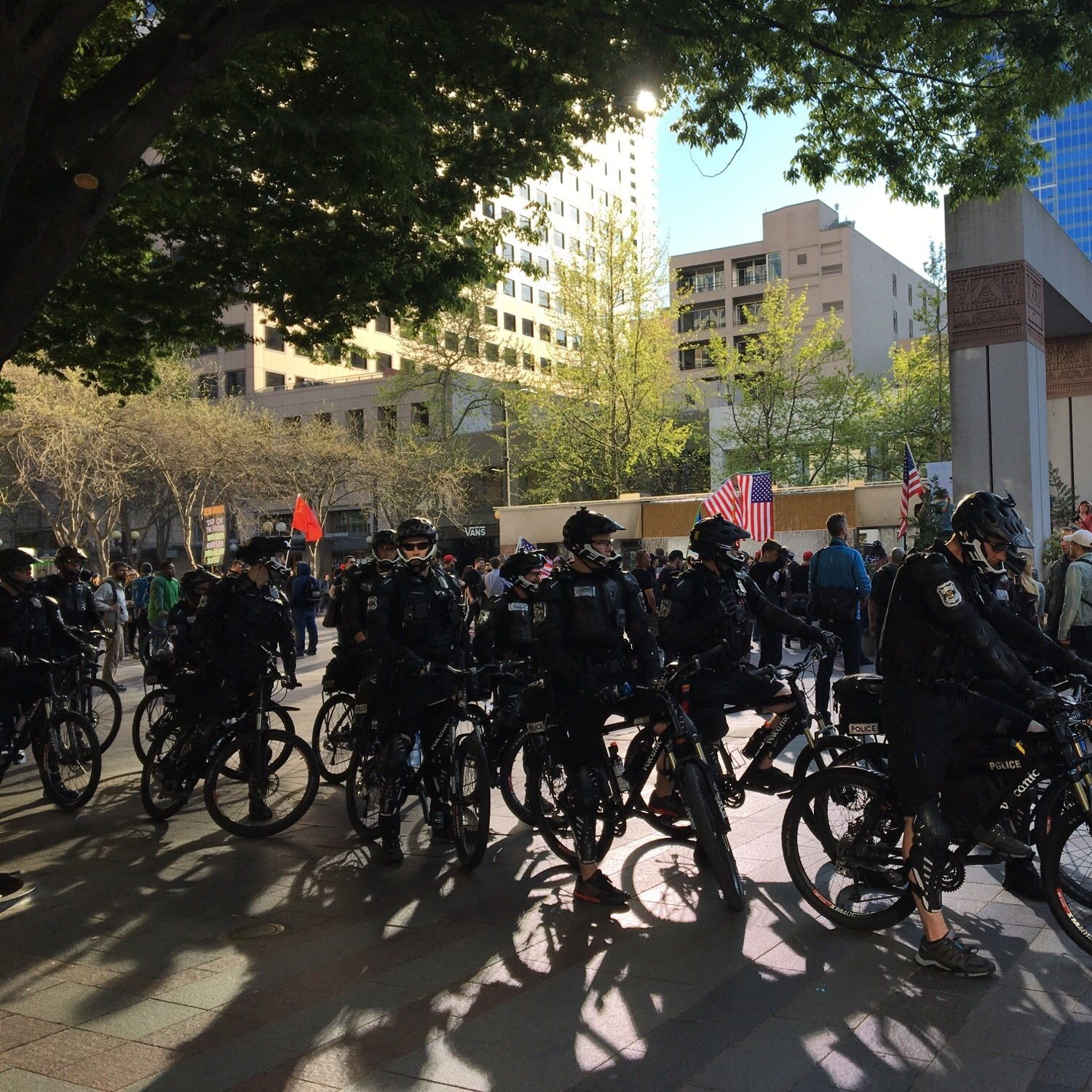 May day cops seattle police 2018 bikes westlake ooqljs