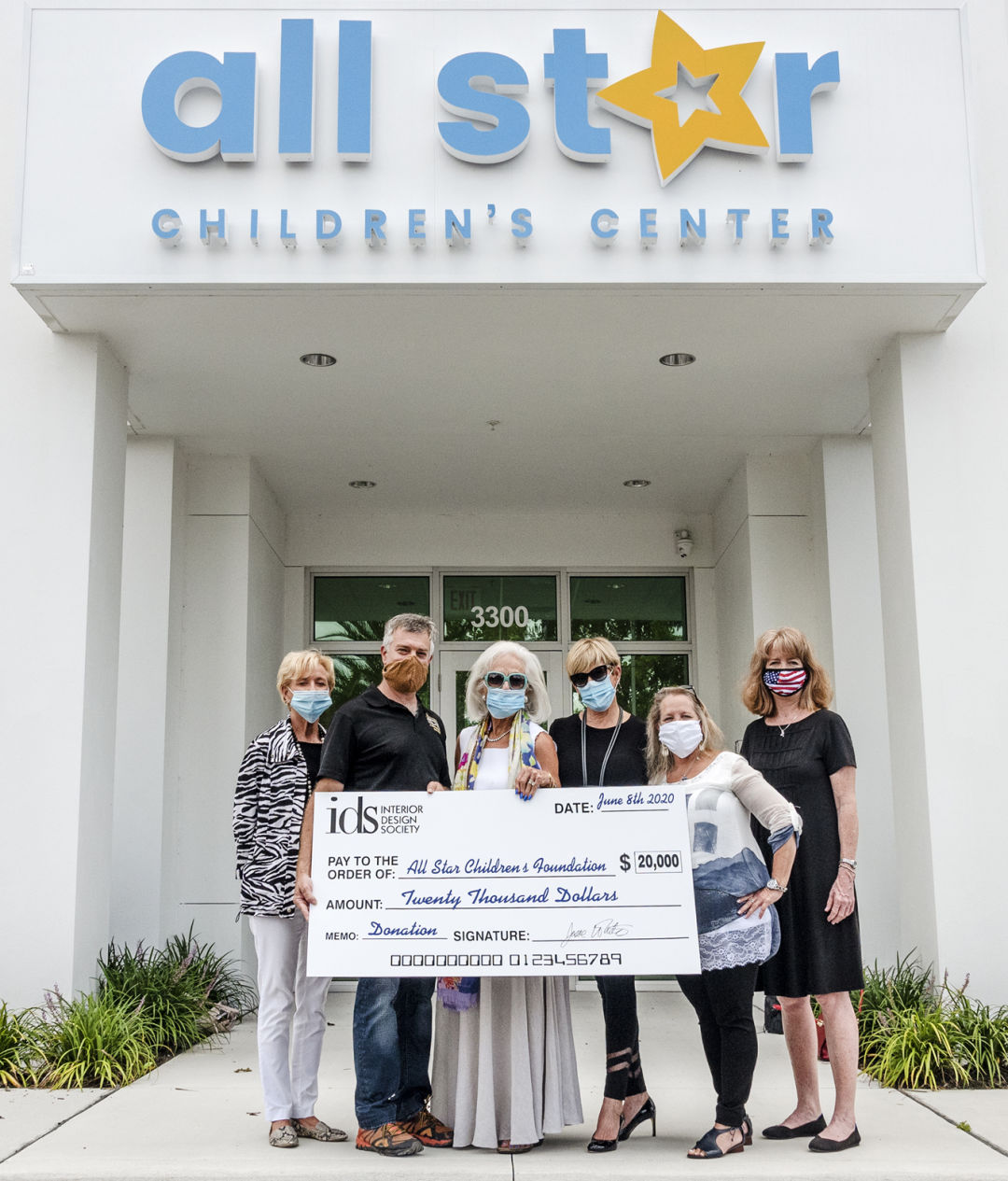 All Star Children's Foundation accepts a $20,000 grant from the Sarasota chapter of the International Design Society.