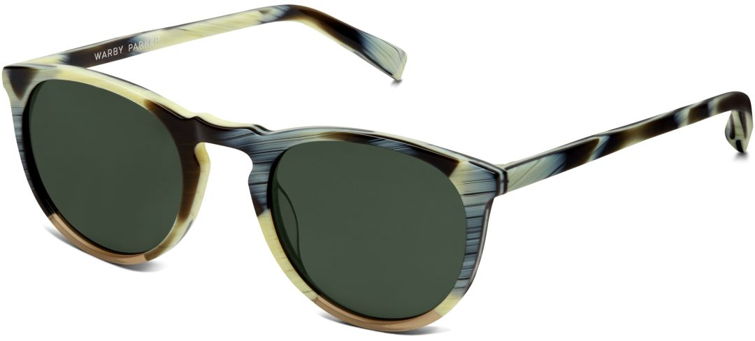 Warby parker haskell pearl horn with toffee sunglasses angle falxlg
