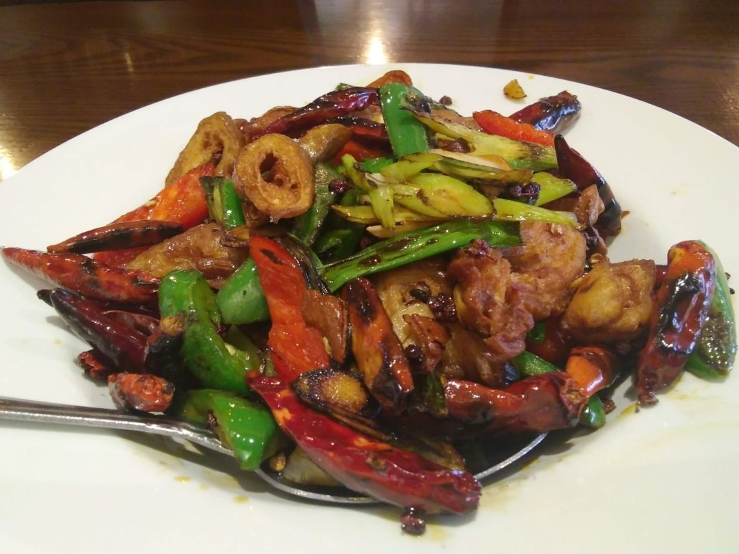 1809 Menu spicy girl has intestines on its menu, and we tried them
