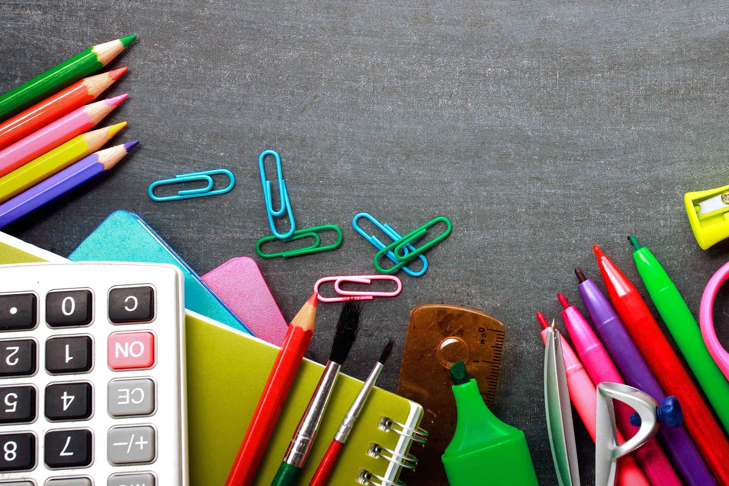 Shutterstock school supplies afkx1y