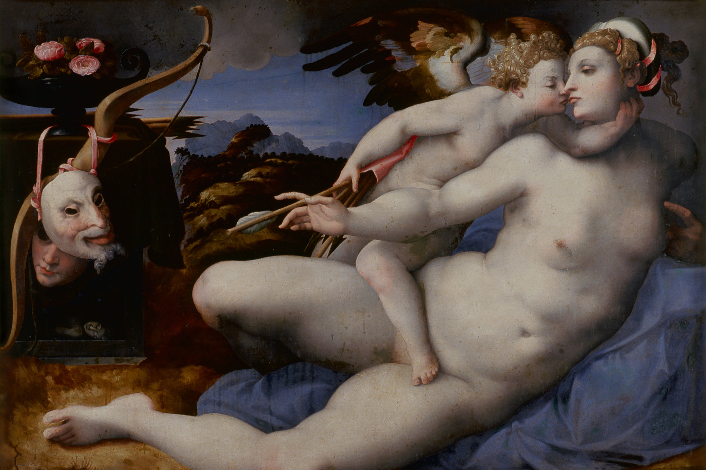 7   attributed to hendrick van der broecke after michelangelo buonarotti  venus and cupid oao4bi