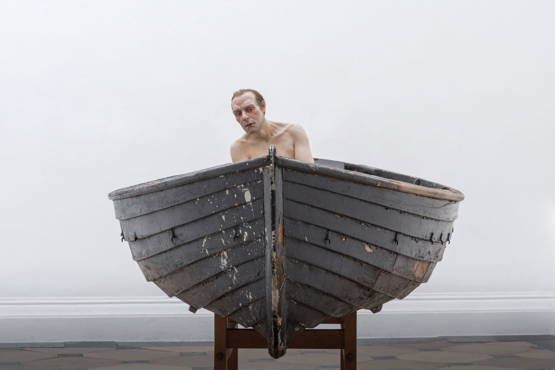 0417 on the town art exhibit mfah man in a boat sculpture ron mueck nsd4pe