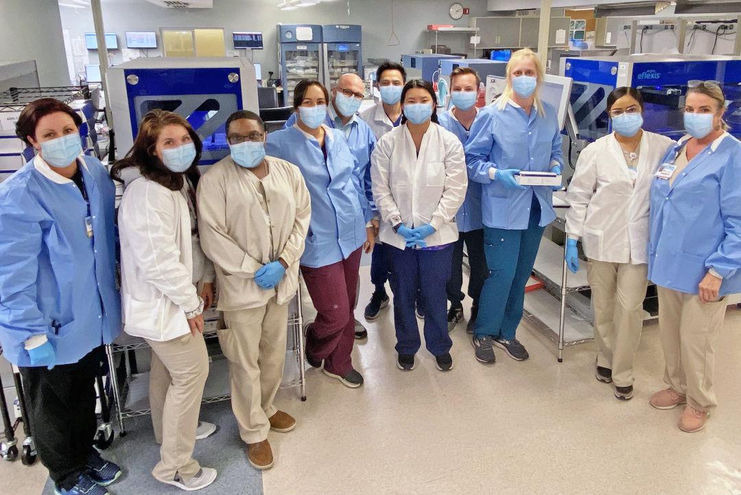 The Sarasota Memorial Hospital lab team
