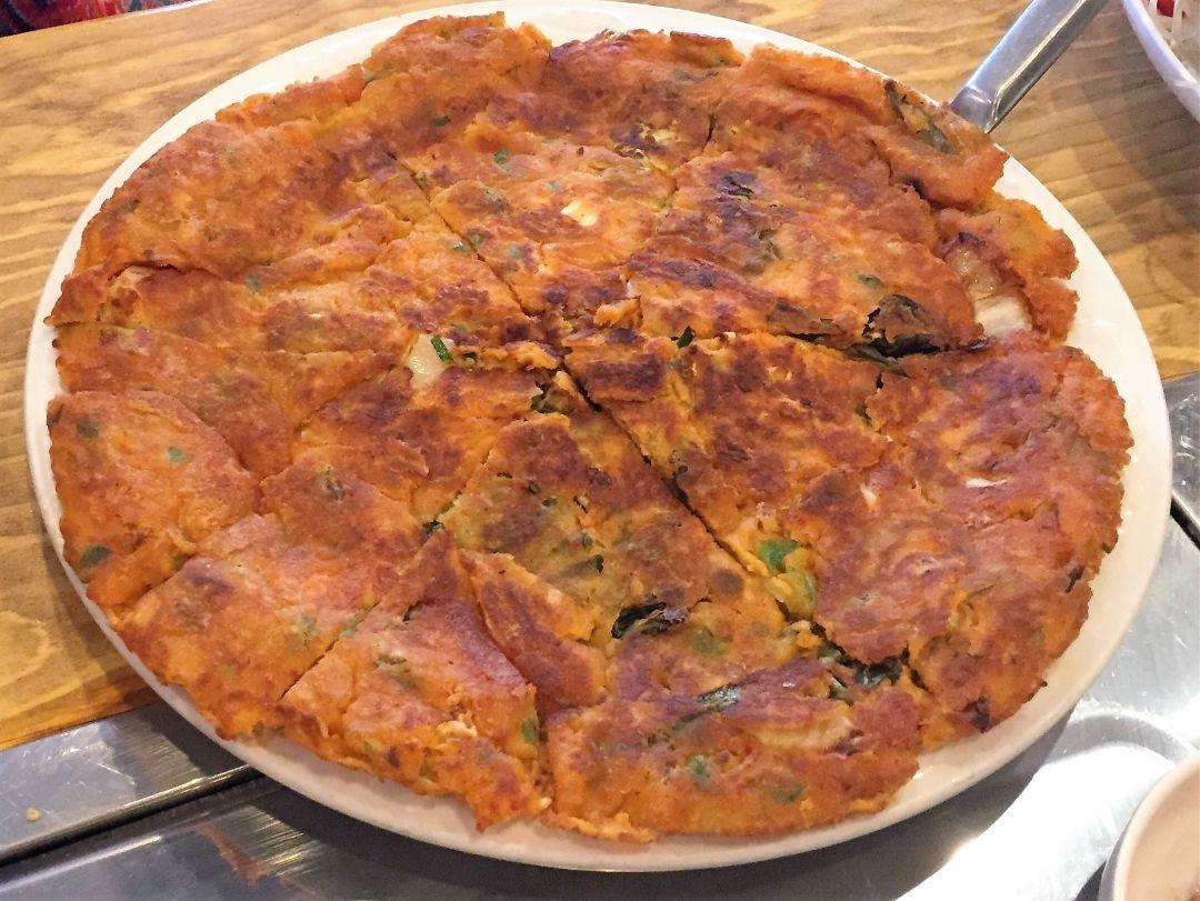 Kimchi pancake at bon ga restaurant fztkcx