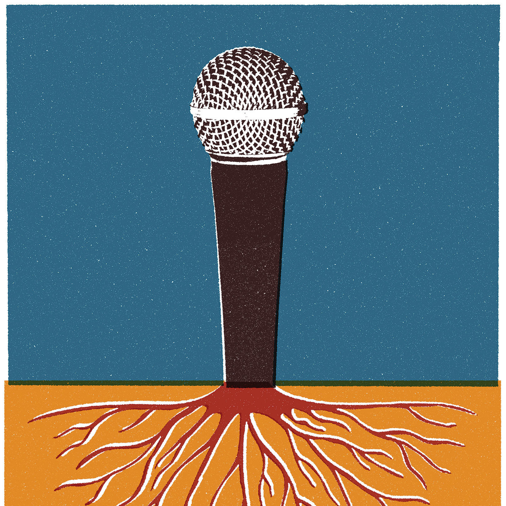 Pomo 1216 hiphop microphone illustration gowaks