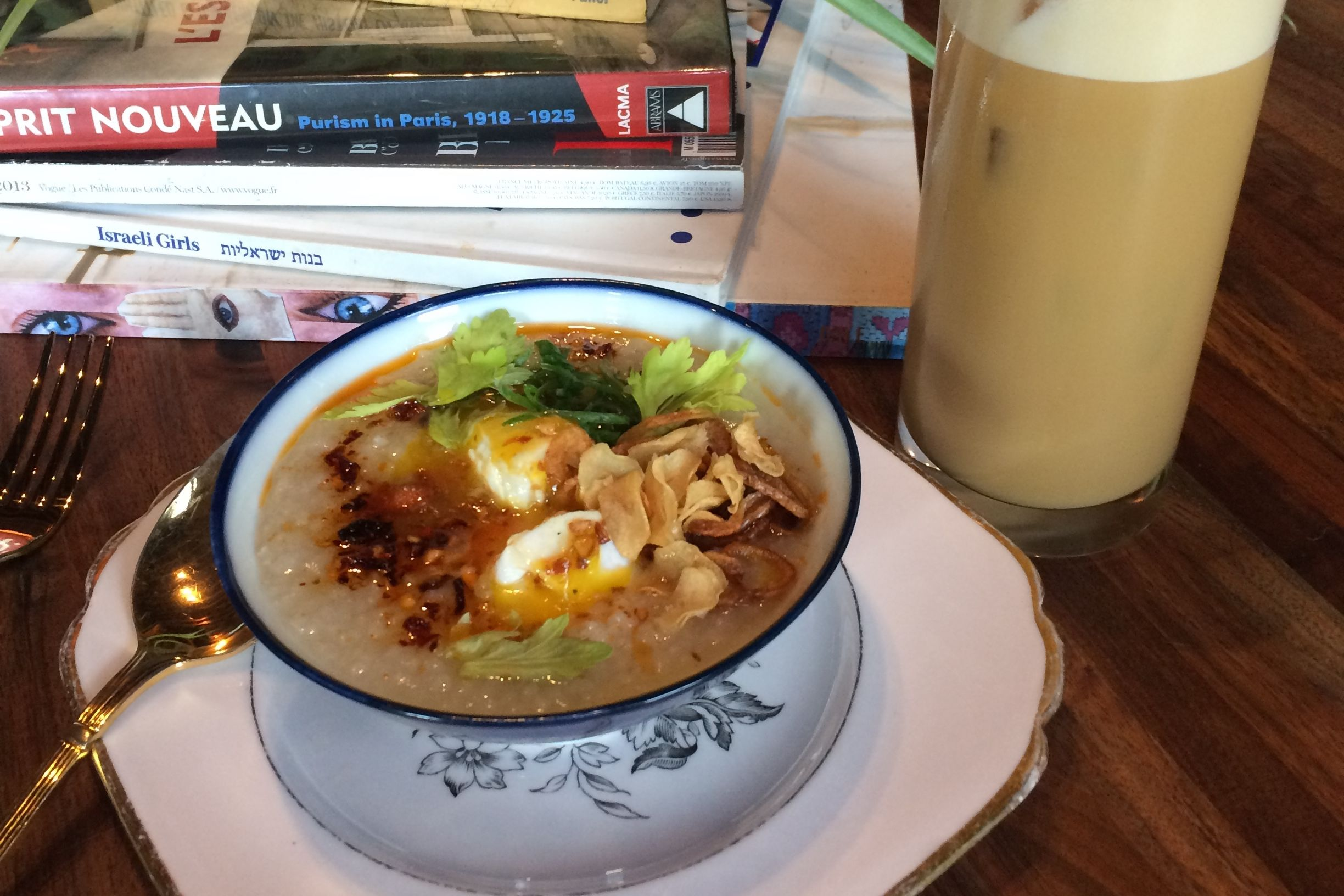 Congee and tequila mai tai nqjvlq
