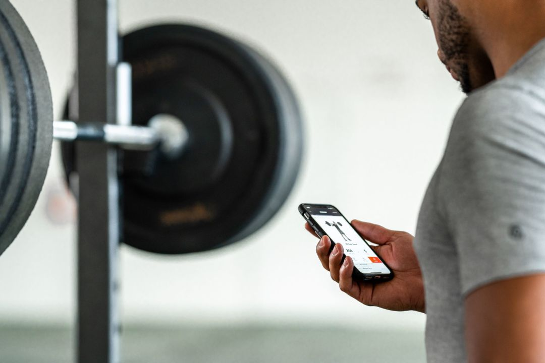 Volt app with barbell