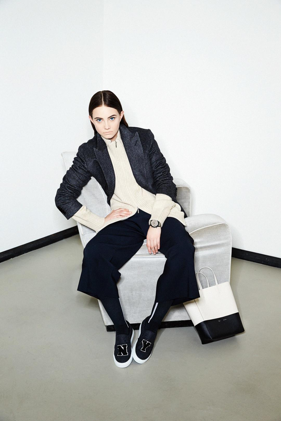 0215 plain spoken black jacket cream sweater zcf98p