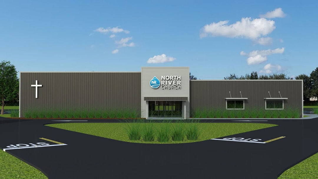 A rendering of the new North River Church.