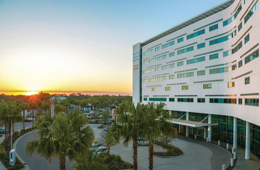 Sarasota Memorial Hospital at sunrise