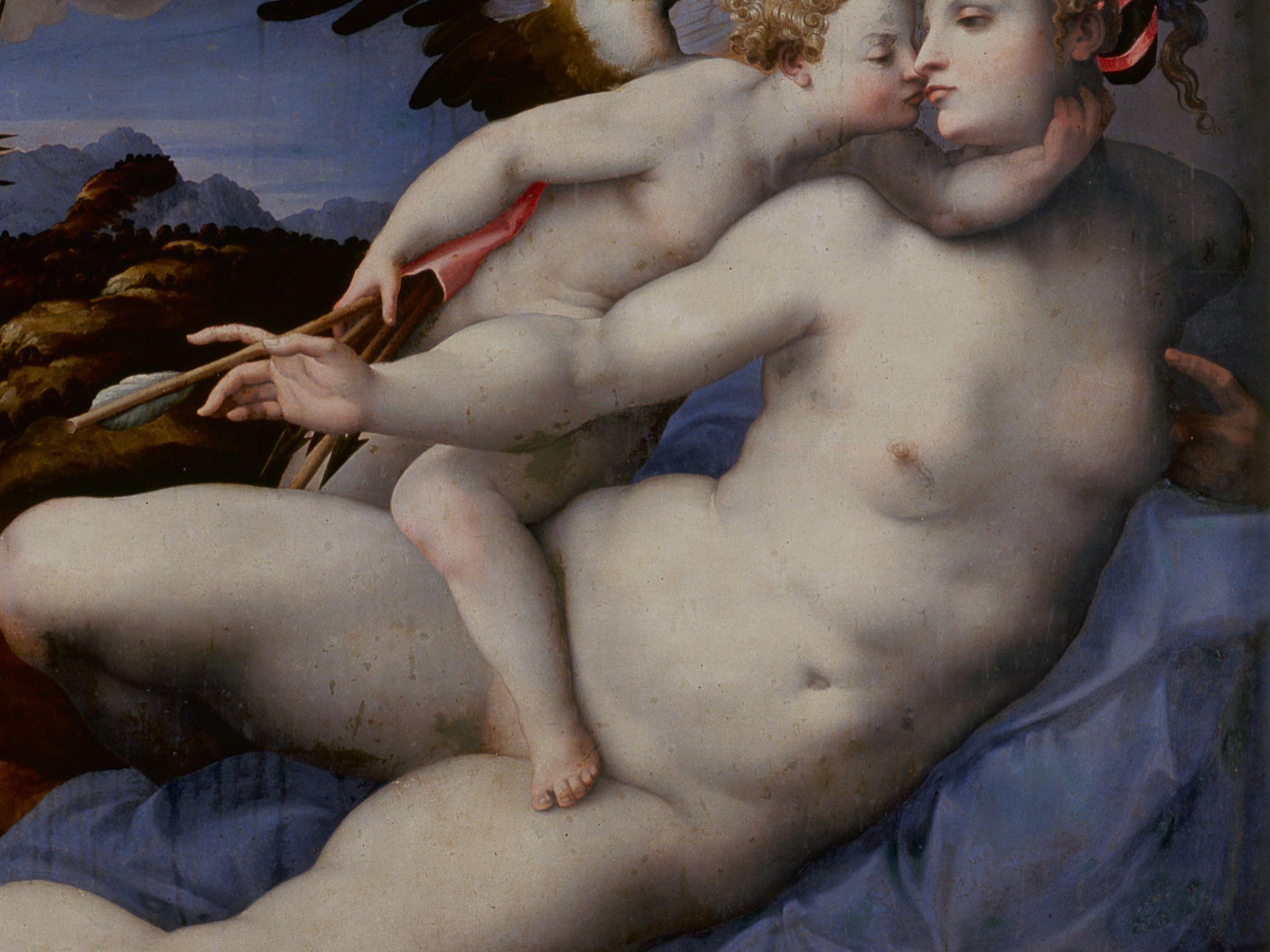 7   attributed to hendrick van der broecke after michelangelo buonarotti  venus and cupid oao4bi