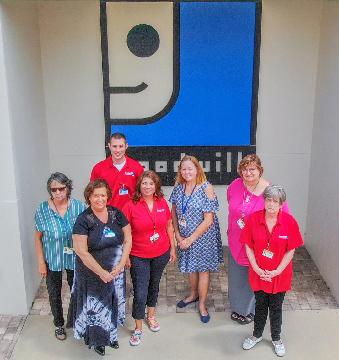 Goodwill Manasota GoodPartner Coaches (from l-r) Diana Olivieri, Ana Magadan, Josh Poling, Yolanda Garcia, Cathy Metcalfe, Dana Knuuti and Pamela Bavo