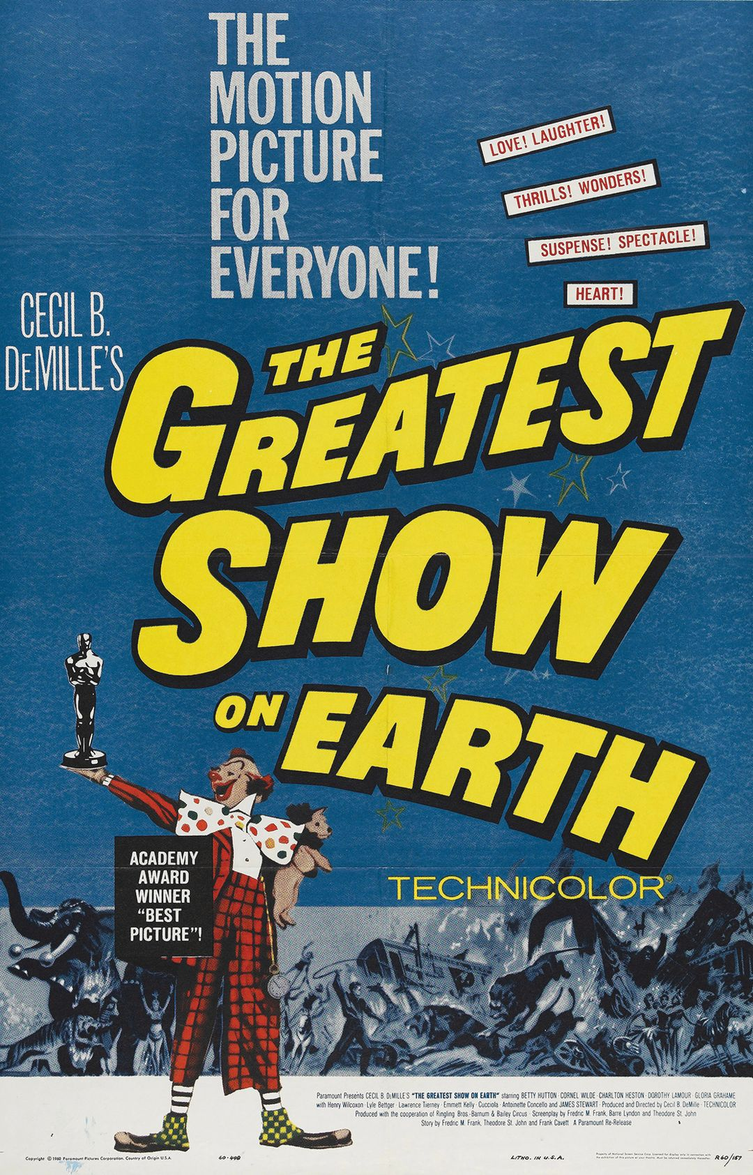 The Greatest Show on Earth premiered at what is now the Sarasota Opera House in 1952.