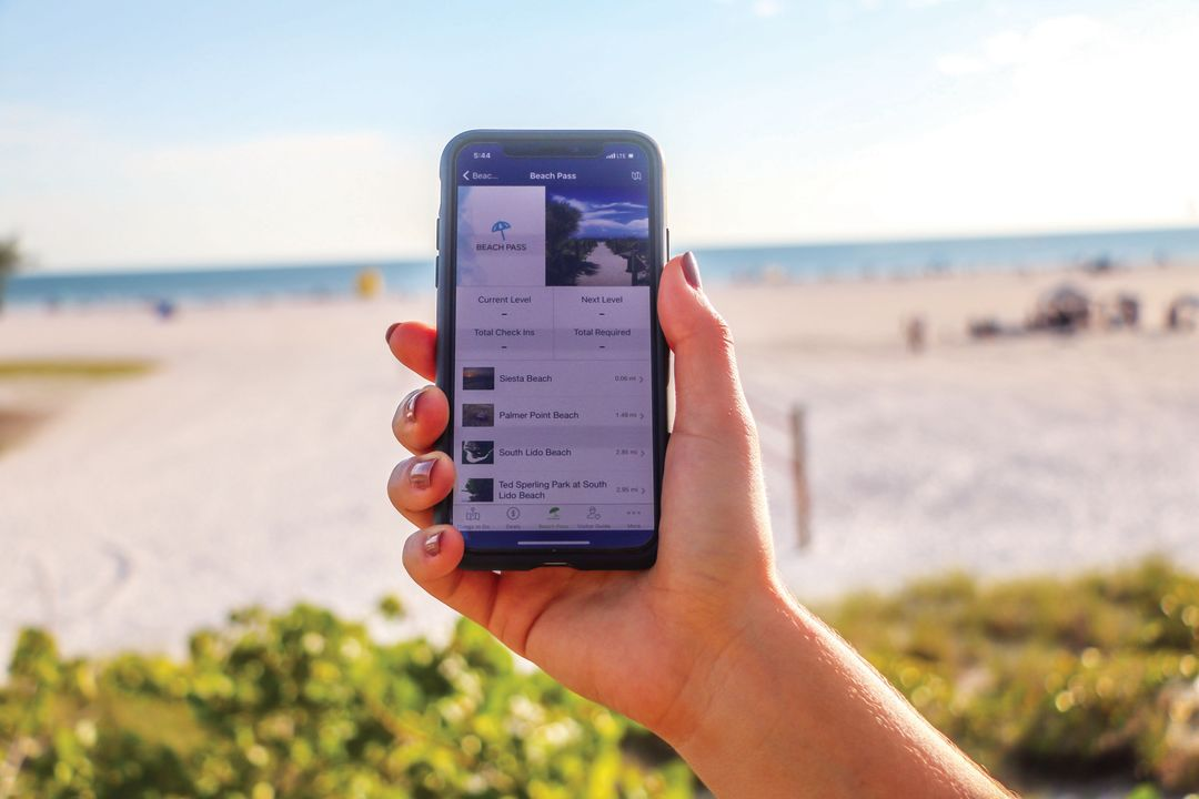 Visit Sarasota County's Beach Pass feature is available on its app