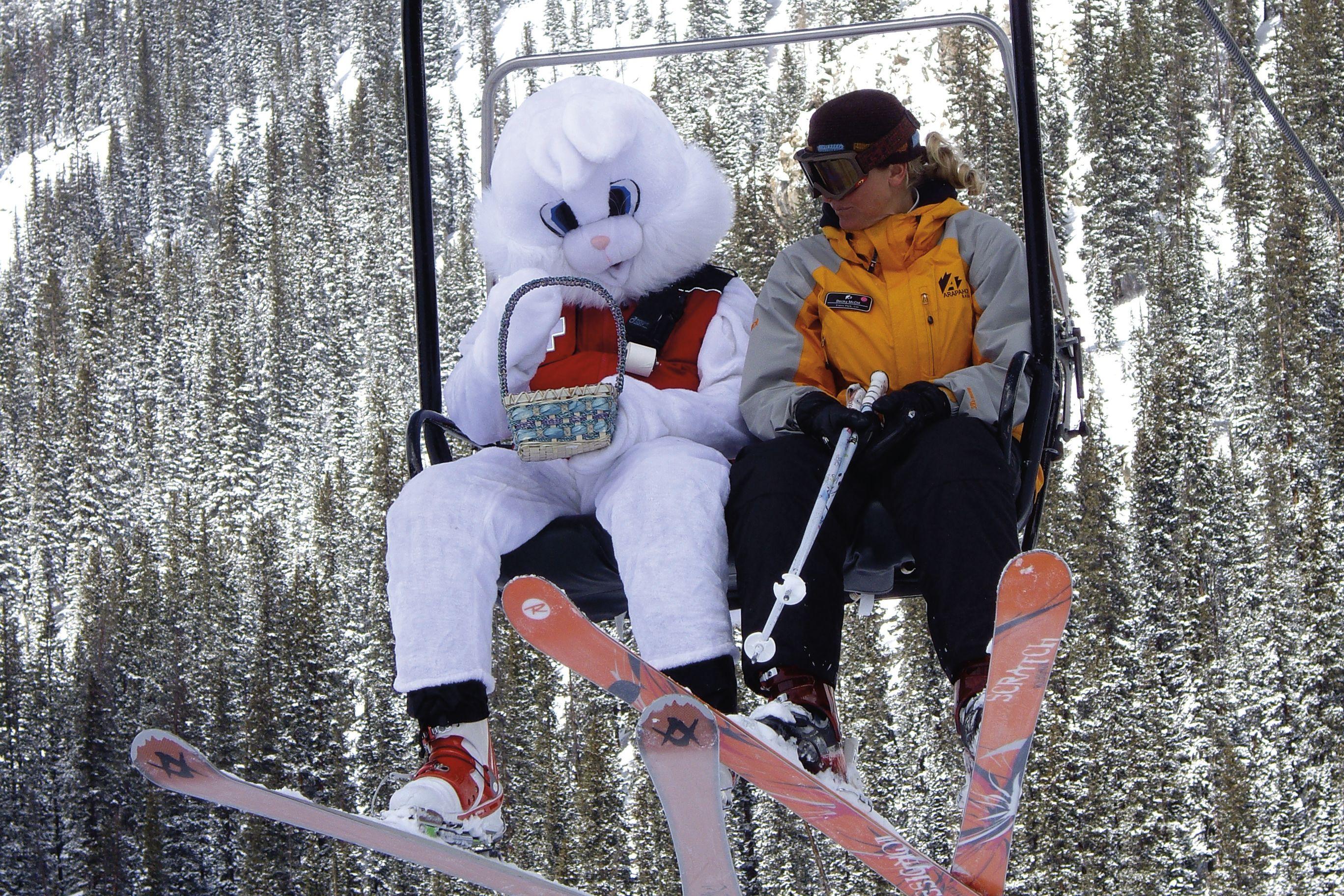 Cosu winter 2012 family egg hunt ski lift aerboy