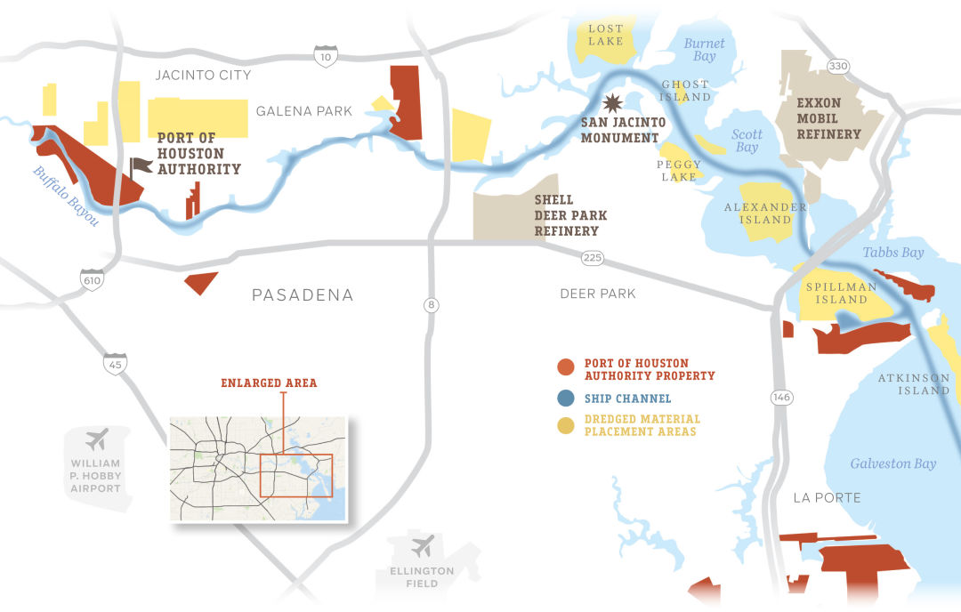 The Strange Case Of A Port And Its City Houstonia - Port of houston map