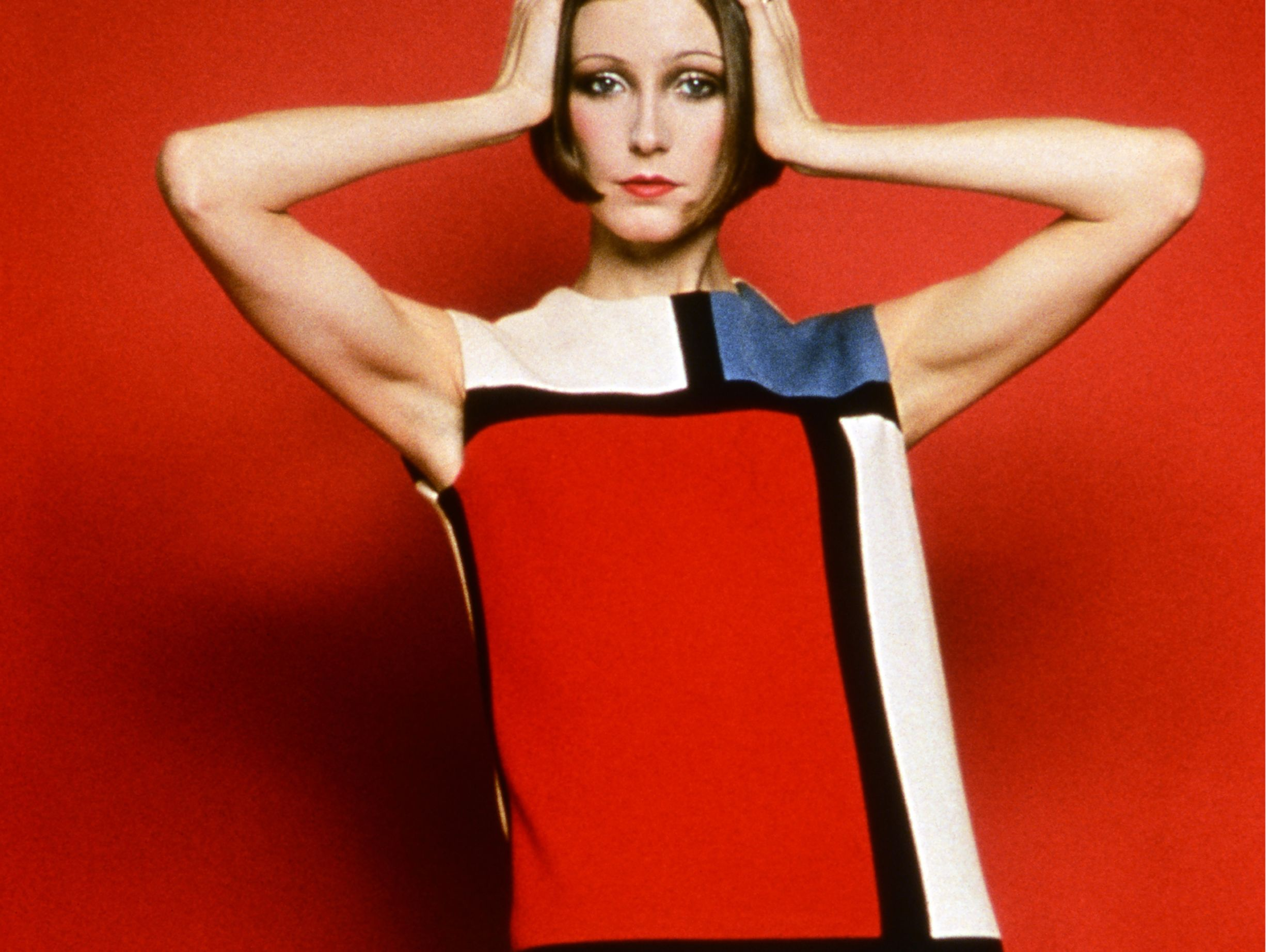 Cocktail dress worn by susan moncur homage to piet mondrian fw 65  1  xh1k6a