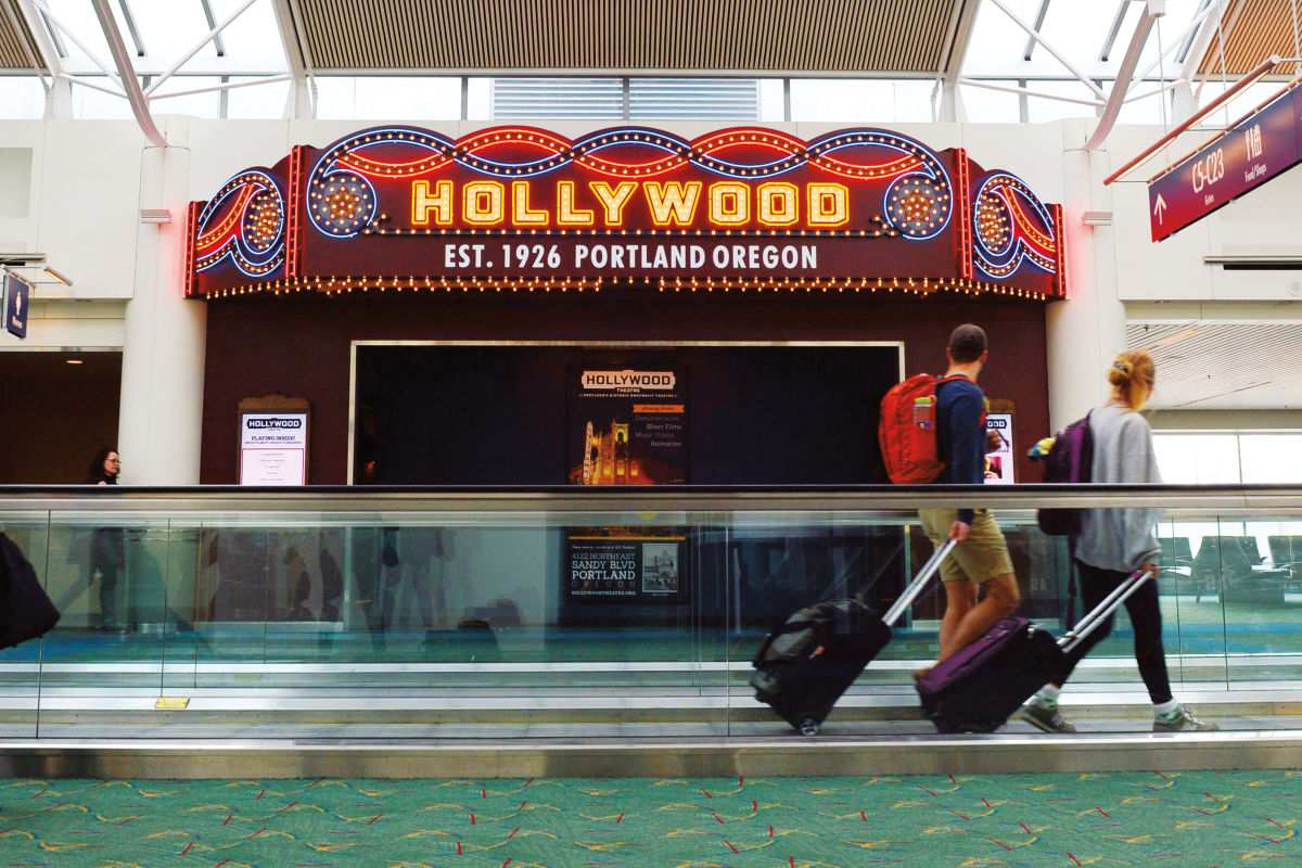 The Portland Airport Opened A Mini Movie Theaterand Its Packing