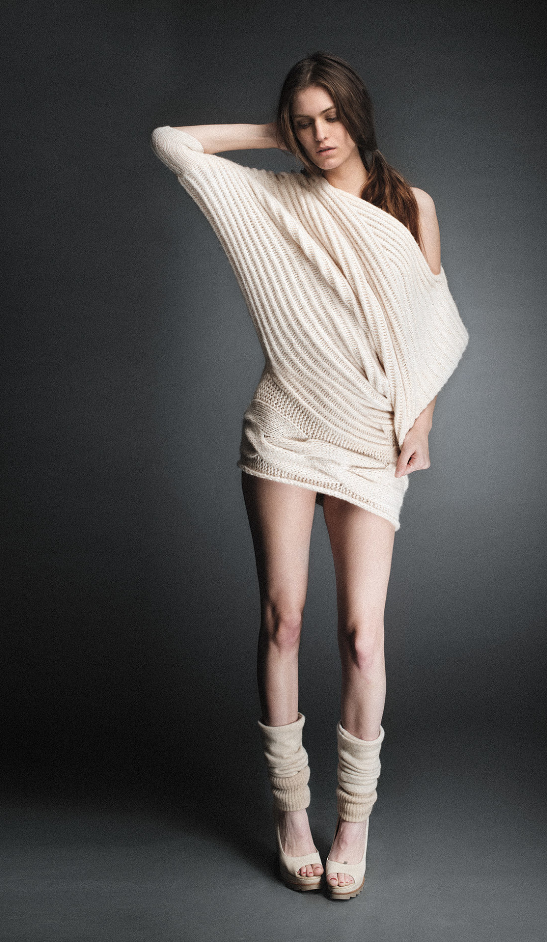 0213 beige knit dress sjylrh