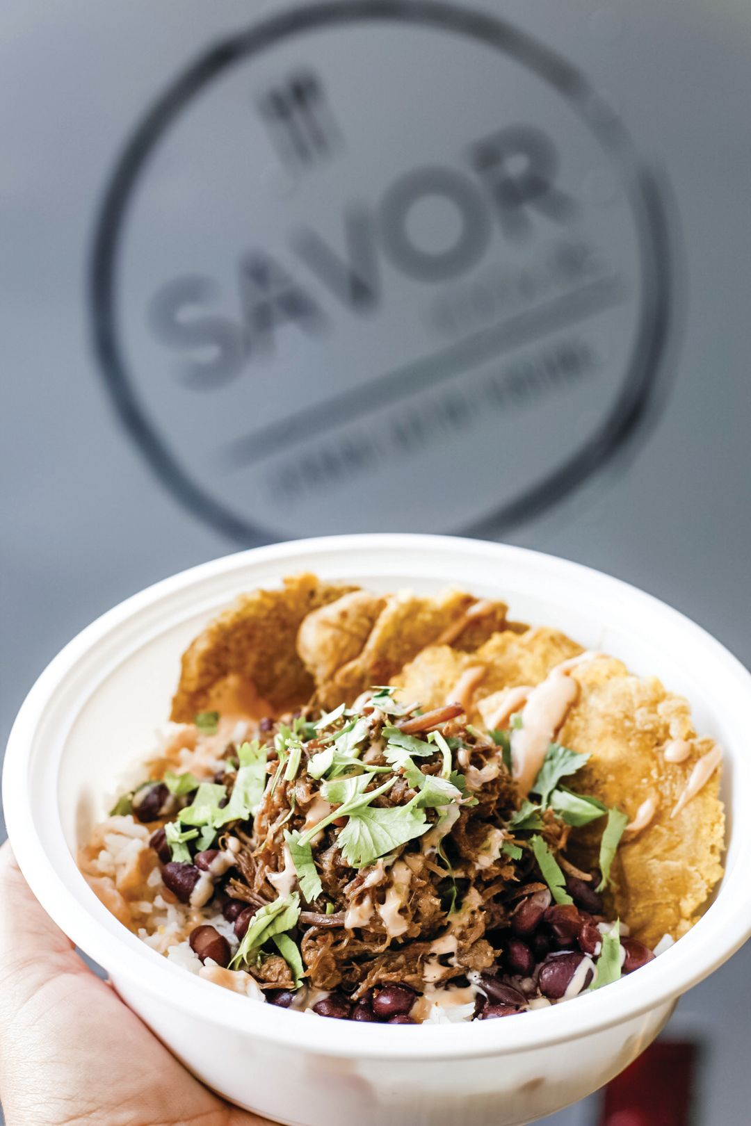A bowl from the new food truck Savor 100x35