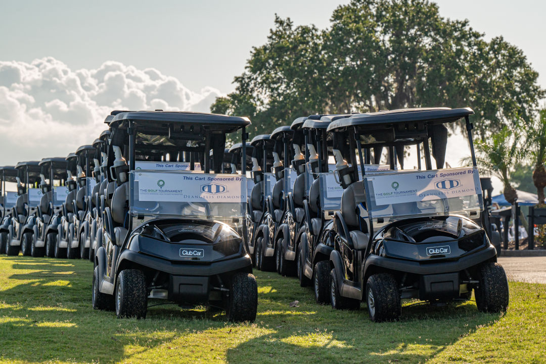 Golf carts at the annual Sarasota Memorial Hospital golf tournament.