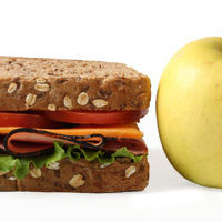 Lunch sandwich apple uy8n6e