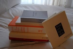Ns books on bed t8j3dm