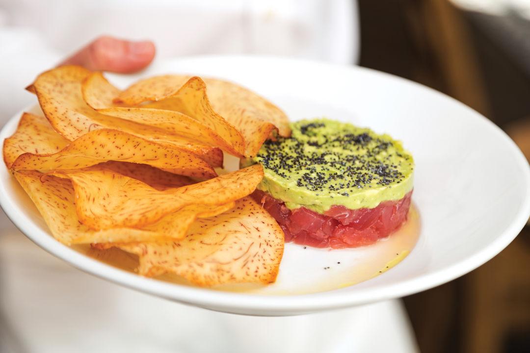 0417 on the table tuna tartare gulf coast cuisine dwmjzv