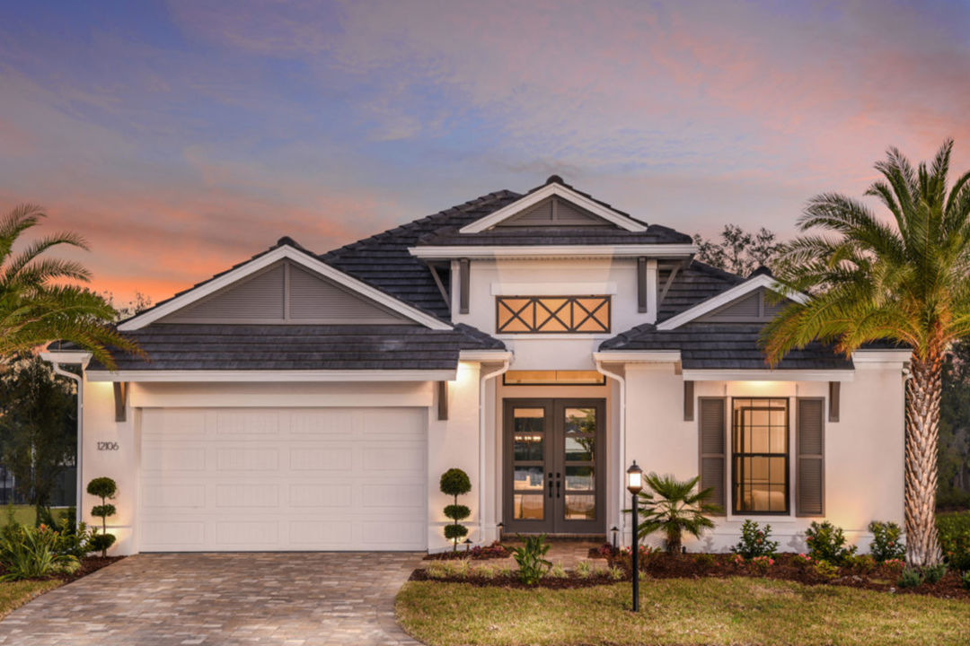A model home at Cypress Glen at River Wilderness in Parrish