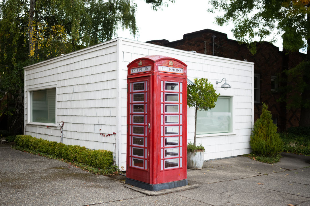 British telephone box in Madison Park