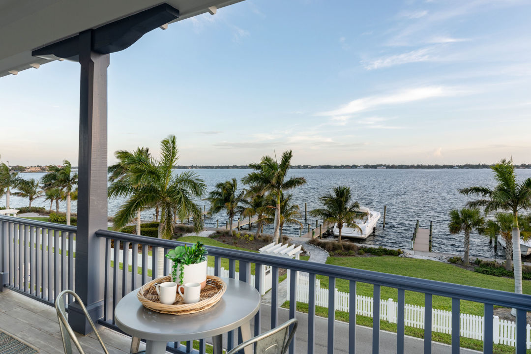 A view of the river from a model home at Redfish Cove