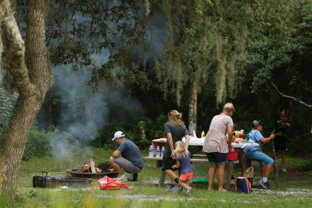 Cooking out at Rye Preserve