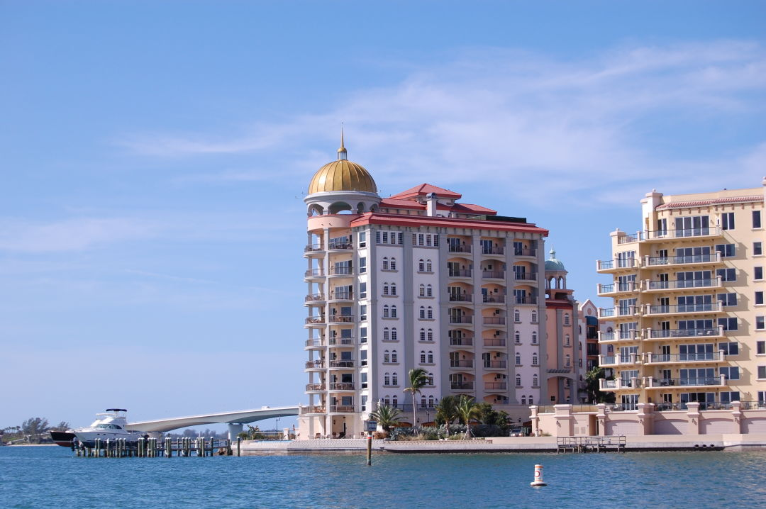 A view of condos at Golden Gate Point in downtown Sarasota.