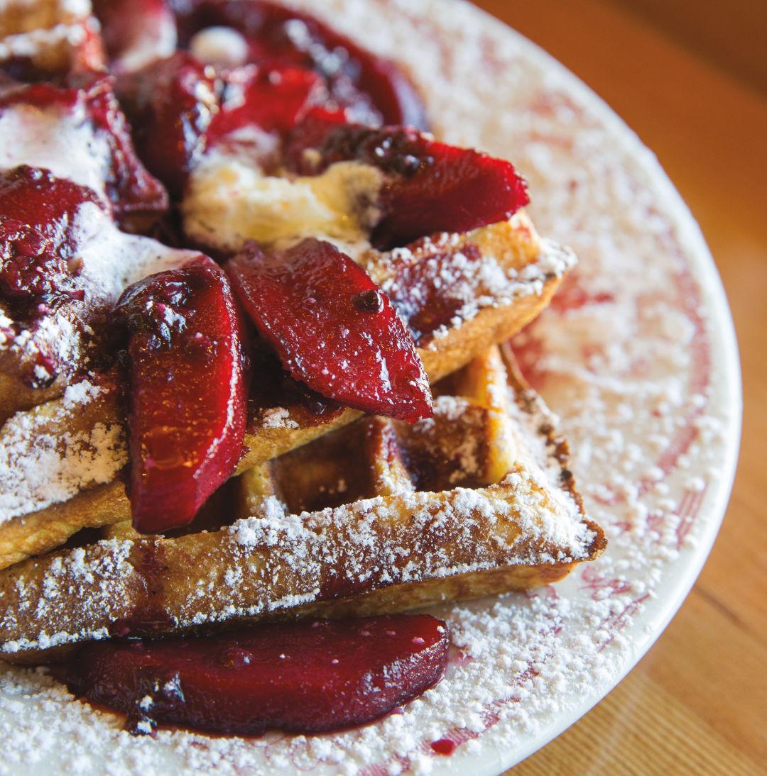 Pomo 0517 cheap eats beeswing sourdough waffle qutivv
