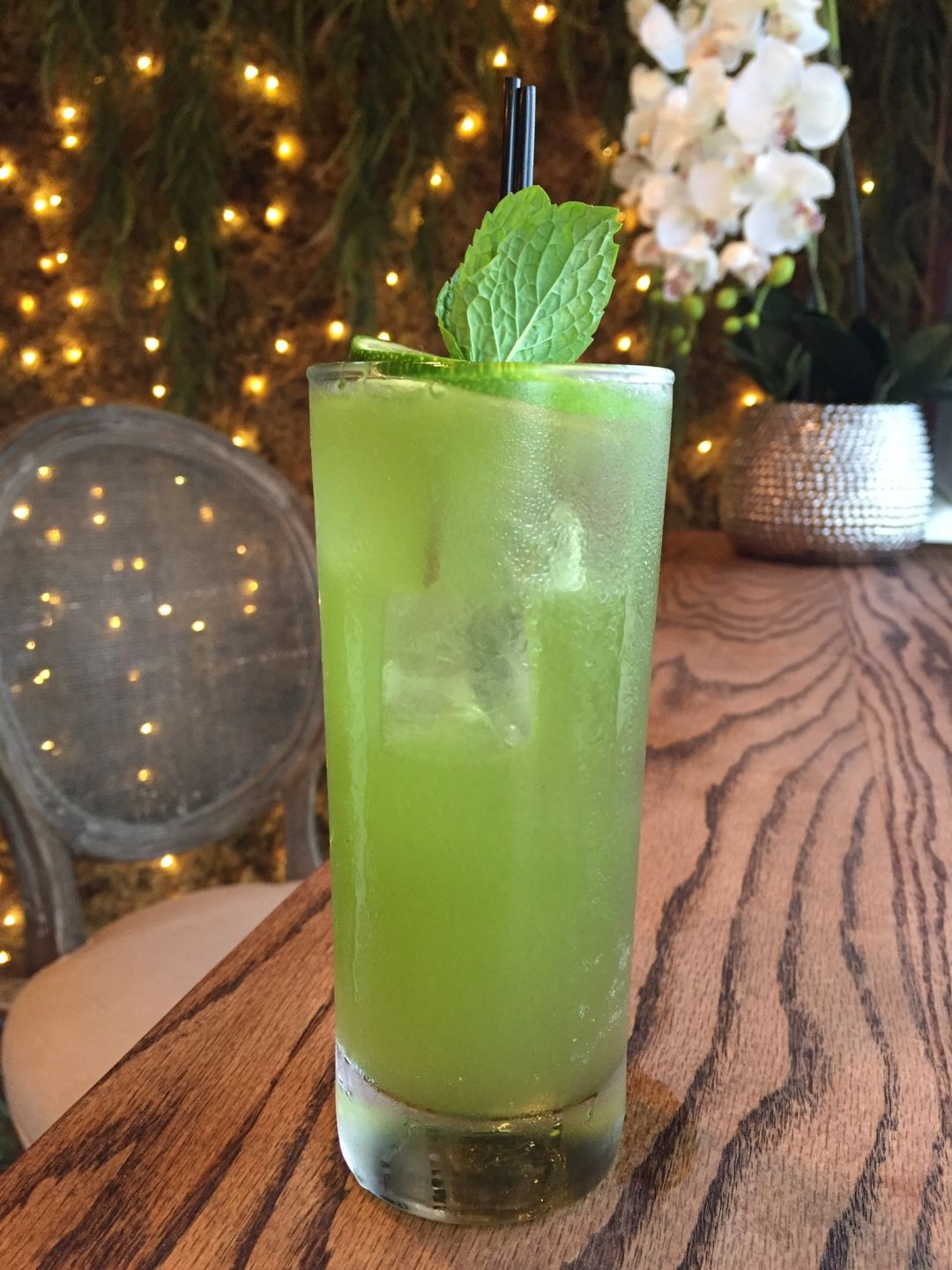 Rosewater green cocktail courtesy photo hefgln