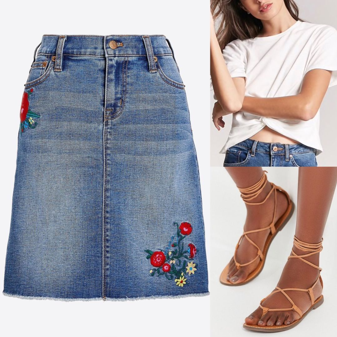7a97347095 7 Ways to Rock a Denim Skirt | Houstonia