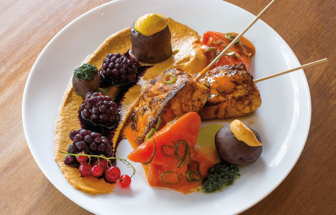 Pomo 0816 paiche seafood opah skewers sr8548