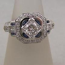 Diamond sapphire engagement ring pbarvd
