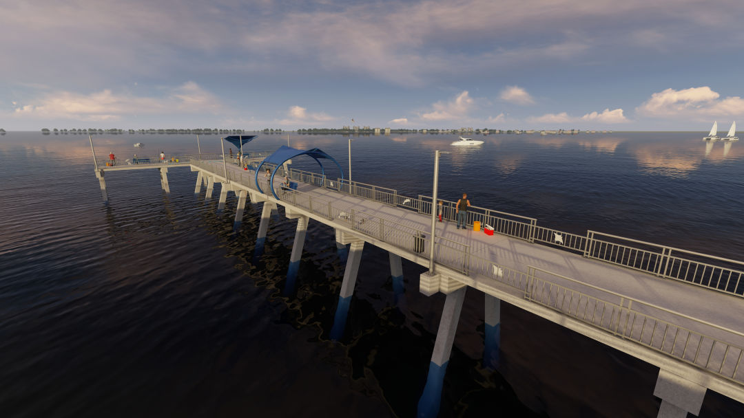"A rendering of planned improvements to the T.J. ""Tony"" Saprito Fishing Pier."