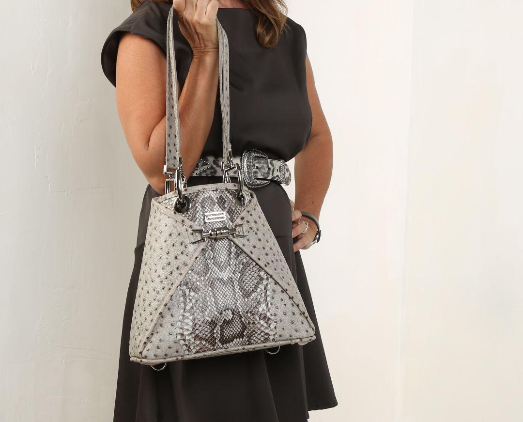 BSWANKY's python handbag