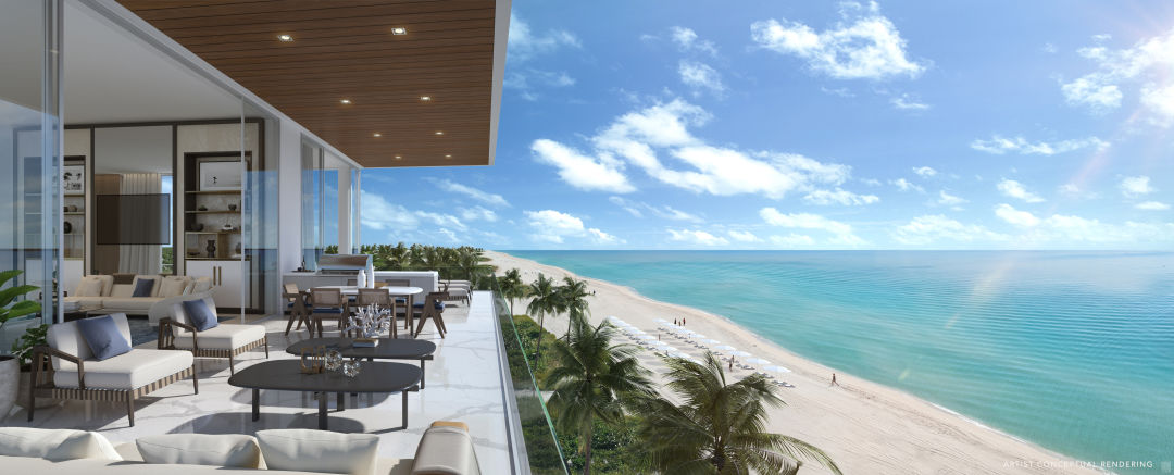 A rendering of a unit at Sage Longboat Key Residences