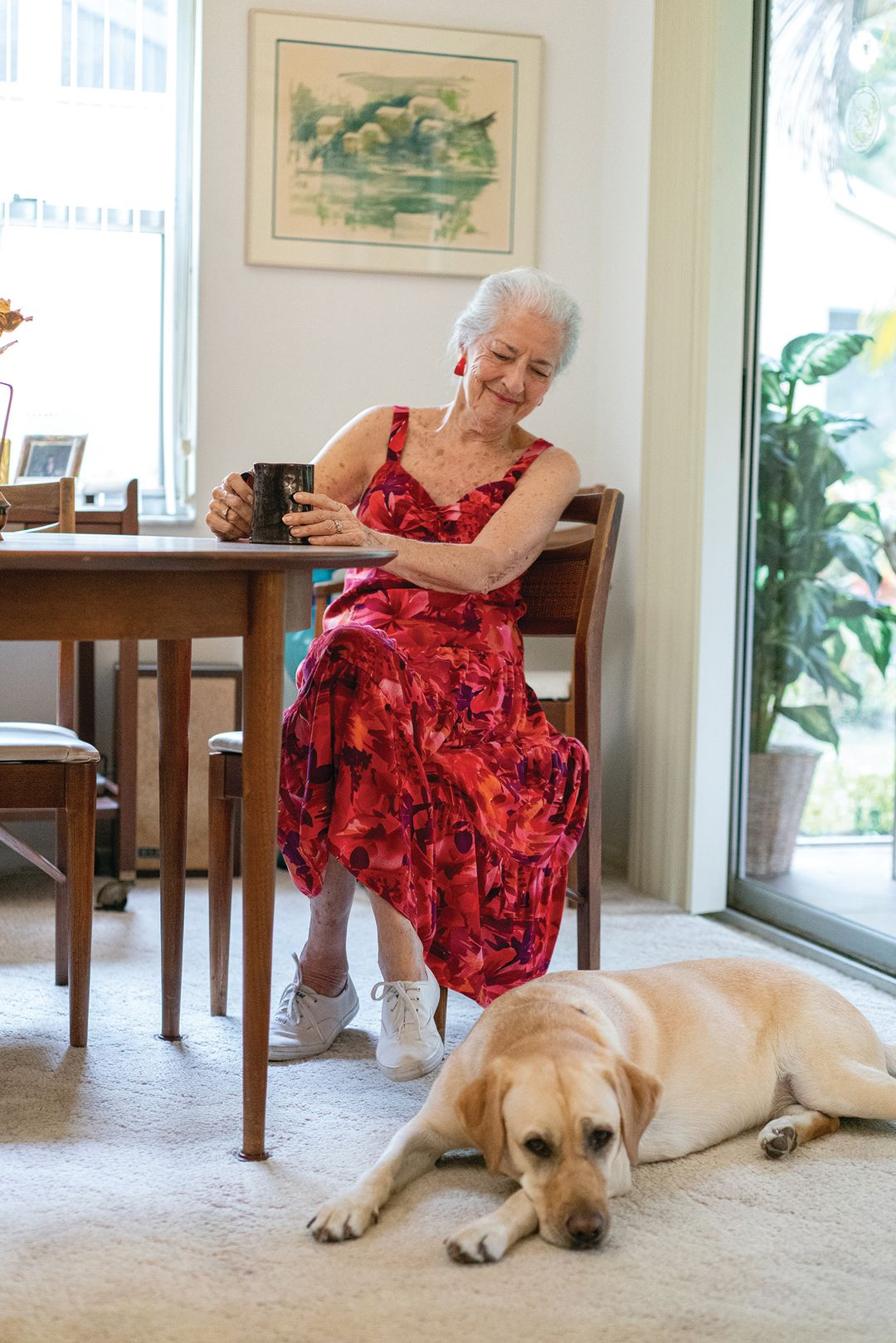 Irene Herman and her companion dog, Butter.