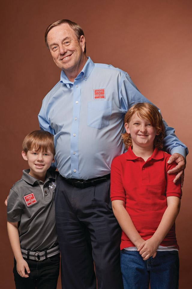 Easterseals CEO Tom Waters with young clients